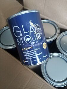 Glamour Lazura Clear GLOSS varnish over paint holographic glitter walls 6x750ml