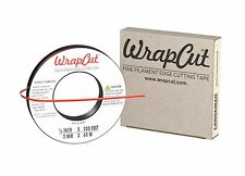 "WrapCut Vinyl Wrap Matte Carbon Fiber Gloss Edge Cut Tape 200 FT x 1/8"" Roll Car"