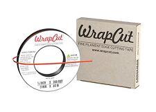 WrapCut Vinyl Wrap Matte Carbon Fiber Gloss Edge Cut Tape 200 FT x 1/8