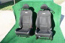 06-09 CHEVROLET COBALT COUPE SS FRONT SEAT SEATS PAIR SET MANUAL TRACKS BLACK
