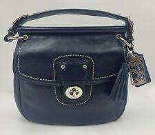 Coach 19132 Navy Blue Willis Purse Bag Handle Shoulder Crossbody Strap Pockets