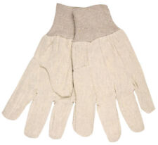 1 Dozen Memphis Cotton Canvas Work Gloves with Knit Wrist, Large
