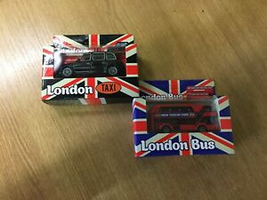Double Decker London Transport Bus & London Taxi-cast Vehicle Toy In Box*******