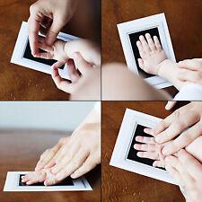 Baby Newborn Handprint Footprint Clean Touch Ink Pad Photo Black Kit