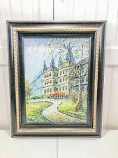 Contemporary Framed Vintage Oil On Canvas Paris Street Scene By J. Bardot Pretty