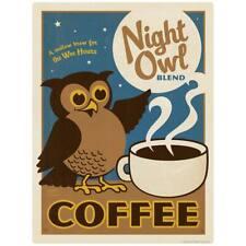 Night Owl Coffee Decal Peel and Stick Decor