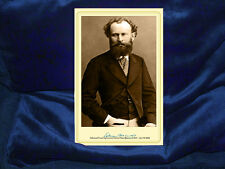 EDOUARD MANET French Impressionist Painter Cabinet Card Self Portrait Autograph