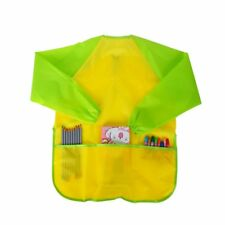 Hot Kids Art Smock Long Sleeve Painting Apron Waterproof Apron/Yellow #Lk3