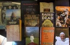 INTERESTING & UNUSUAL CATHOLIC LOT OF 12 BOOKS--AUGUSTINE, BENEDICT XVI, TURIN