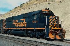 788086 Denver e Rio Grande western EMD SD 50 no 5514 Helper utah USA A4 FOTO