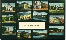 Romania Bukowina Vatra Dornei multiple view with Synagogue,rare old pc