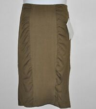 M by Marc Bouwer Stretch Knit Skirt W/Ruching Size M Olive