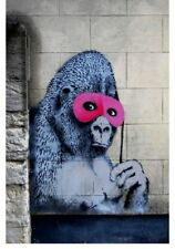 BANKSY GORILLA HUGE CANVAS GRAFFITI URBAN STREET ART PRINT 24x36