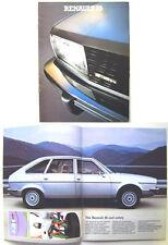 Renault 20 TS LS TL 1979-80 Original UK Market Brochure