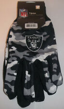 Oakland Raiders Team Gloves Color Camo NFL Utility Mens Size New Pebble Grip
