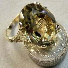 9 ct gold second hand smokey citrine ring