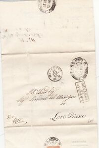 1863 ITALY PARTLY PRINTED LETTER & CACHETS S ANGELO IN PONTANO  ITALIAN STATES