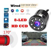 Impermeable 8 LED del coche Vista posterior reverso Cámara HD Visión nocturna