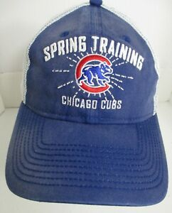 Cubs Chicago Spring Training Hat Woman sm Youth Lg MLB Snapback Prefade Cap