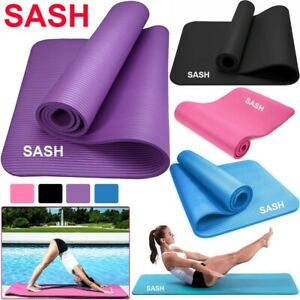10mm Yoga Mat Thick Large Comfortable NBR for Pilates Gym Exercise Carry Strap