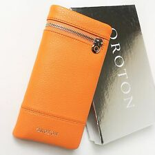 RRP$225 New OROTON Women Bueno Soft Fold Wallet Purse Leather Sunset