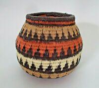 "A  BOTSWANA  African Woven Tribal Basket by master weaver Edare Sembonda 3"""
