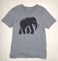 Banana Republic Solid Blue Cotton Polyester Men's Short Sleeve T-Shirt - Size L