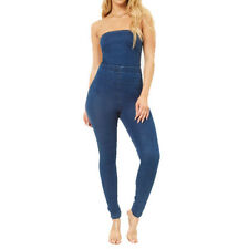 Womens Denim Jumpsuits And Rompers Ebay