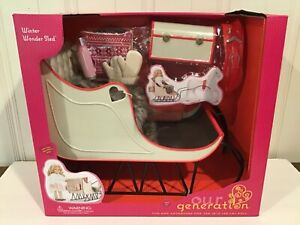 """OUR GENERATION WINTER WONDER SLED FOR 18"""" Dolls NEW IN BOX BATTAT please read"""