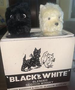 Black & White Scotch Whiskey Mechanical Automaton Scottie Dogs