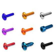 KIT 100 VITI Ergal Alluminio MISTE scelta colori misure Testa bombata cilindrica