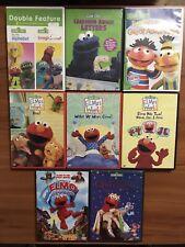 Lot of 8 Sesame Street DVD Collection Elmo's World Grouchland Cinderelmo