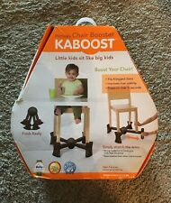Kaboost Portable Chair Booster - Chocolate Brown - Lightweight - 2 Heights