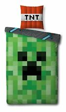 MINECRAFT Set Single Bed CACTUS and TNT Creeper DUVET COVER 140x200cm COTTON