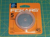 Fiskars 45MM Rotary Blades - 5 PACK - 95287097J - NEW IN PACK