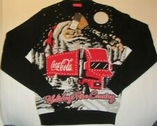 Coca Cola Mens Christmas Black Jumper - The Holidays are Coming