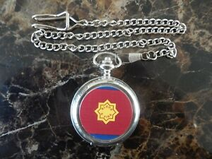 SALVATION ARMY CHROME POCKET WATCH WITH CHAIN (NEW)