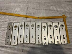 10x neue Türbeschläge für Bartschlüssel Alu  OVP NEU kurze Version