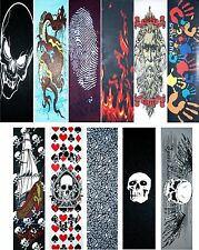 "Skateboard Graphics Grip tape 9"" x 33"" Multiple Designs to Choose"