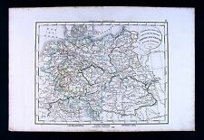 1832 Antique Map Delamarche Austria Hungary Germany Poland Bohemia Prague Europe