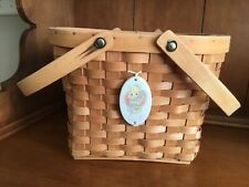 "Vintage Precious Moments Membership Basket ""It's Time to Bless Your Own Day"""