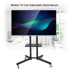 """32-65"""" TV Cart Floor Stand Mount Office Display Trolley With PC Stand and wheels"""