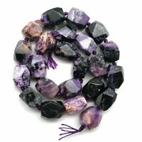 1Strand 16x12mm Facted Purple Charoite Drum Loose Bead 15.5 inch yl062202