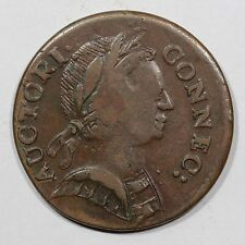 1785 M 5-F.5 R4 Connecticut Colonial Copper Coin ex; Ford