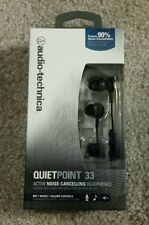 Audio Technica ATH-ANC33IS QuietPoint 33 ACTIVE NOISE CANCELLING HEADPHONES