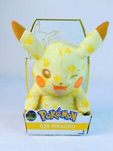 "Pokemon Winking Pikachu Tomy 20th Anniversary Ltd Edition 10"" Plush 025 NIB"