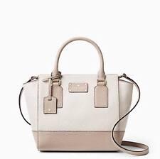 NWT Kate Spade Bay Street Small Camryn Pebble Warm Putty Satchel Leather Handbag