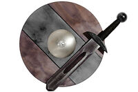 Small VIKING KNIGHT BLACK Set: Sword 40cm and Shield 34cm Wooden Toy