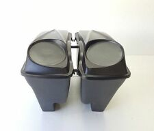 "6.5 #3 Lids extended 4"" Saddlebags Harley Davidson  Dual Exhaust"