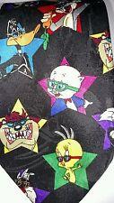 Looney Tunes Mania Tie 1993 Characters Sunglasses Shades Movie Star Black Multi